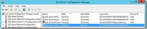 Description: How to Enable SQL Server Agent Service-SQL Server Configuration Manager