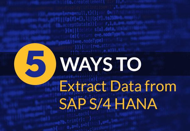 SAP S_4 HANA_data_extraction